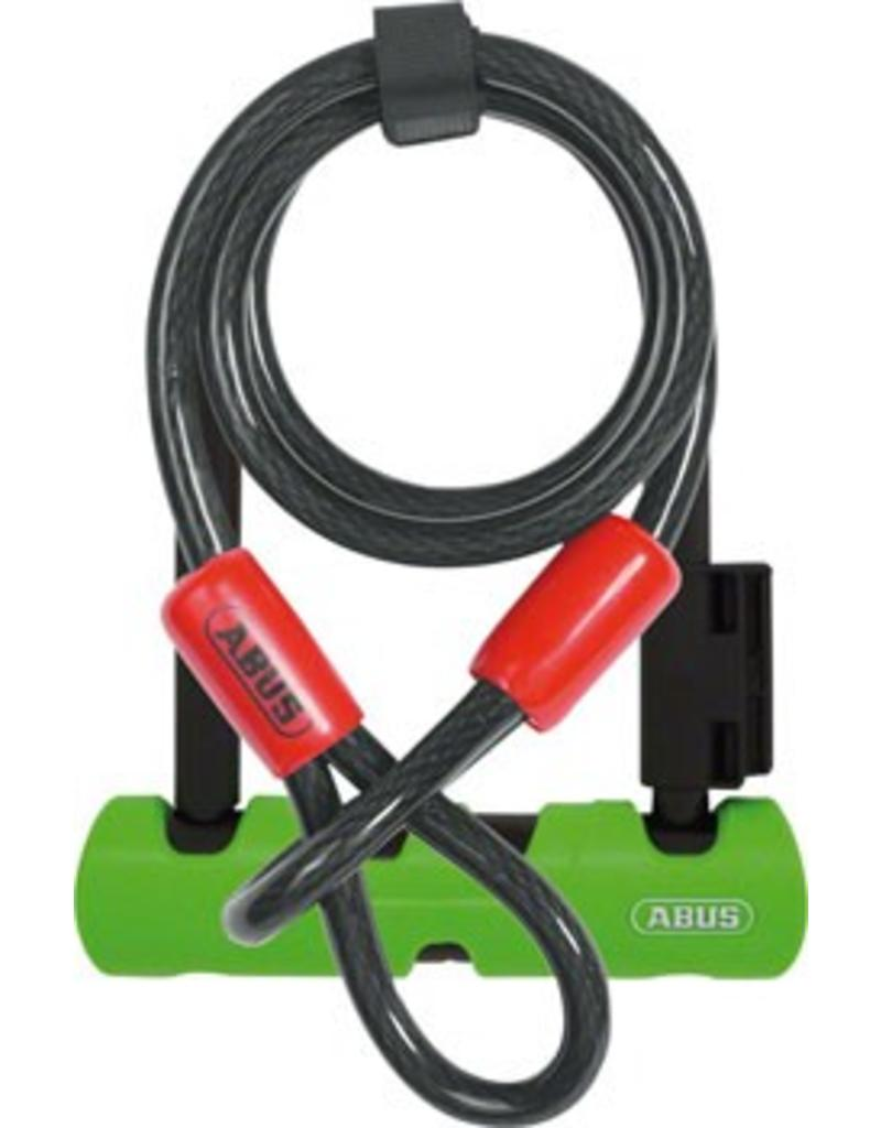 "Abus Abus - U-Lock - Ultra Mini 410 (5.5"") + Loop Cable (Green)"