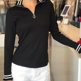 Flare Front Zipper Knit