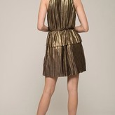 Metallic Sleeveless High Neck Dress