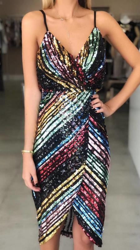 Sequin Wrap Dress