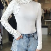 Longsleeve Top with Side Leather Detail