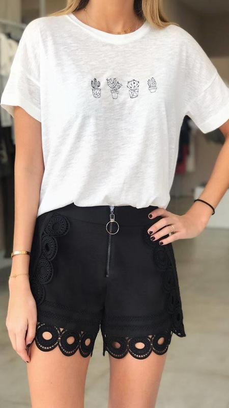 Embroidery Circle Shorts