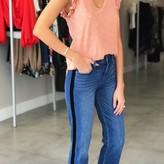 Black Velvet Striped Jean