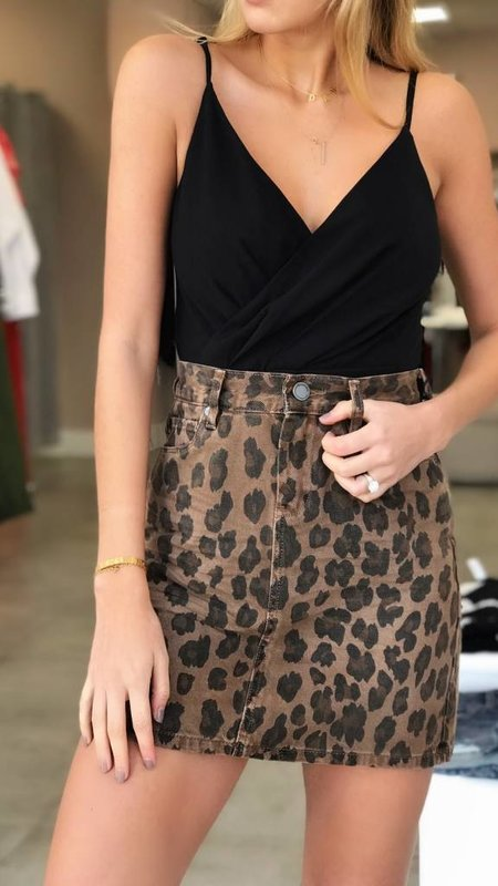 Leopard Cat Walk Skirt