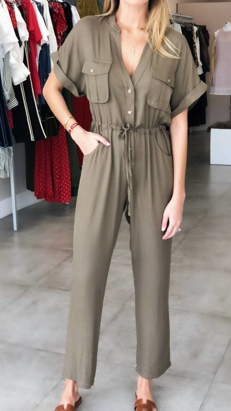 baa783cdc40 Safari Self Tie Feat Pockets Jumpsuit. Tap to expand