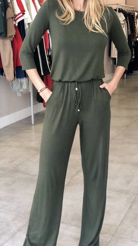 Elastic Waist and Side Pockets Jumpsuit