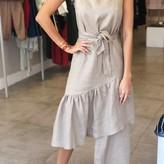 Linen Mid Layer Dress