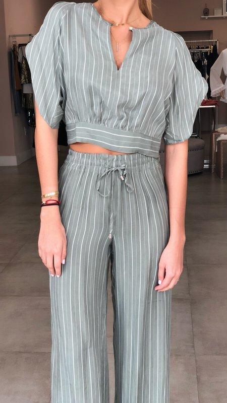 Striped Waistband Pants