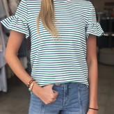 Smocked Striped Tee