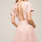 Stripe Waist Tie Dress