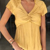 Front Twist Pleated Blouse
