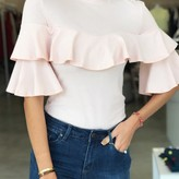 Alice Top With Ruffle Sleeves Rose
