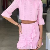 Cherry Ruffle Detaill Lace Skirt