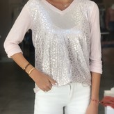 Lucy Silver Animal Print V Neck Sweater