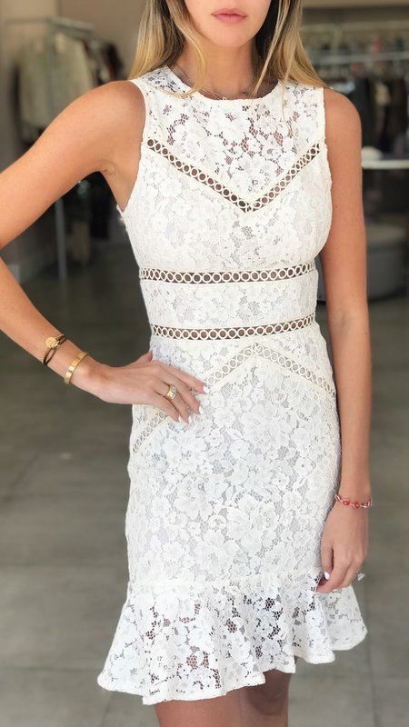 Paris Lace Midi Dress