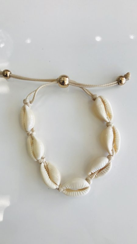 Ocean Seashell Adjustable Beaded Bracelet