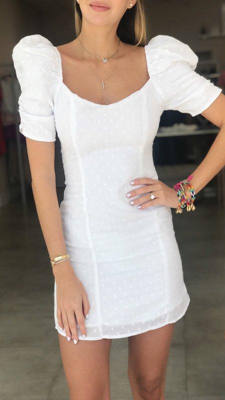 Heidi Puff Shoulders Mini Dress
