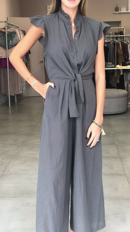 Lina Front Knot Ruffle Sleeve Jumpsuit