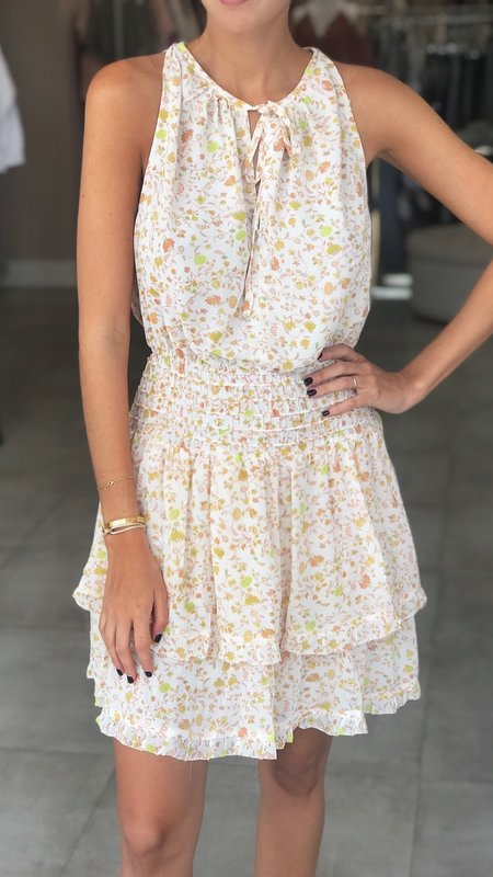 Koko Floral Print Dress With Smocked Waist & Tiered Skirt