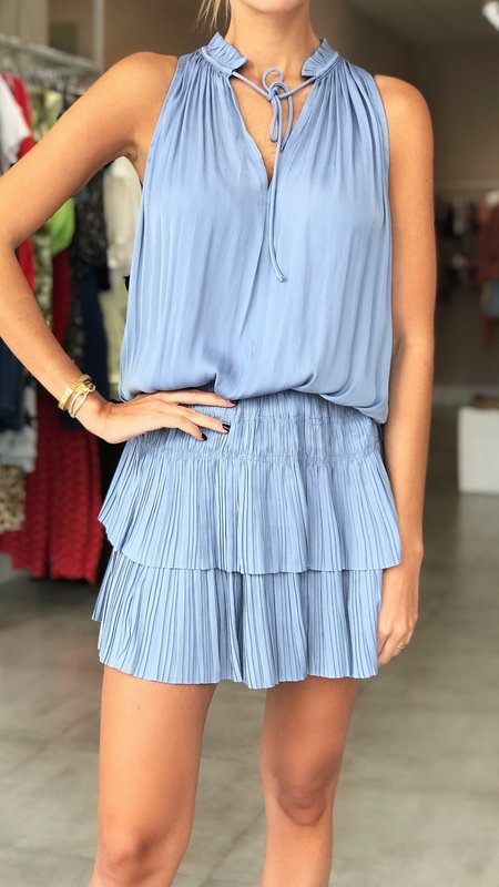 Moonlight Sleeveless Pleated Mini Dress