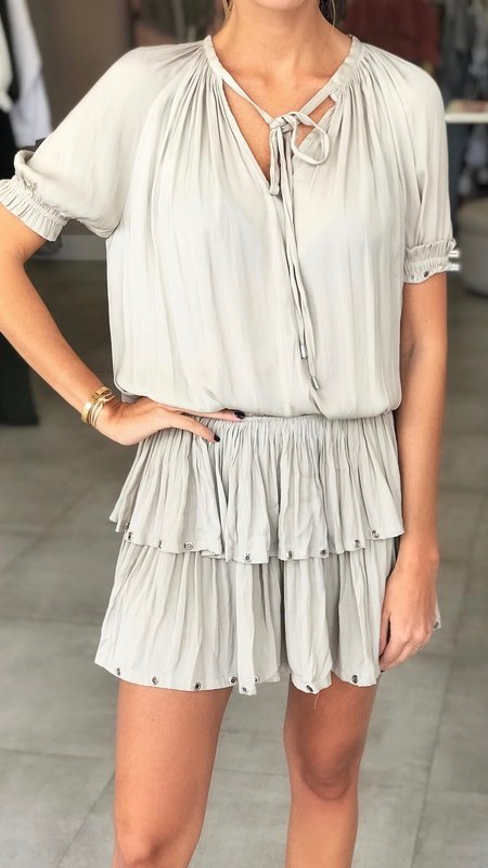 Kim Dress with Smocked Waist and Grommet Detail