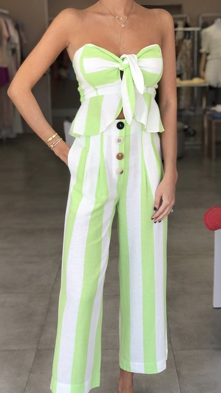 Tinna  Striped Pleated Pants