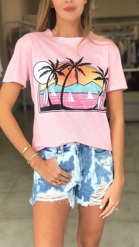 Surf Sunset Print Tee