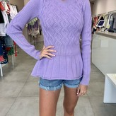 Hope Flare Twist Design Sweater