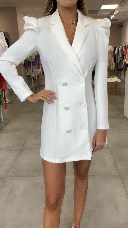 Francesca Puff Shoulders Blazer Dress