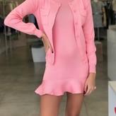 Cora Knited Sweater & Ruffles Hem Dress 2 Piece Set