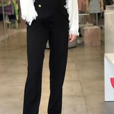 High Waist Double Button Tailored Pants
