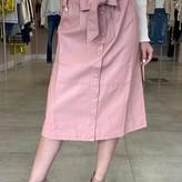 Ambrosia Faux-Leather Midi Skirt
