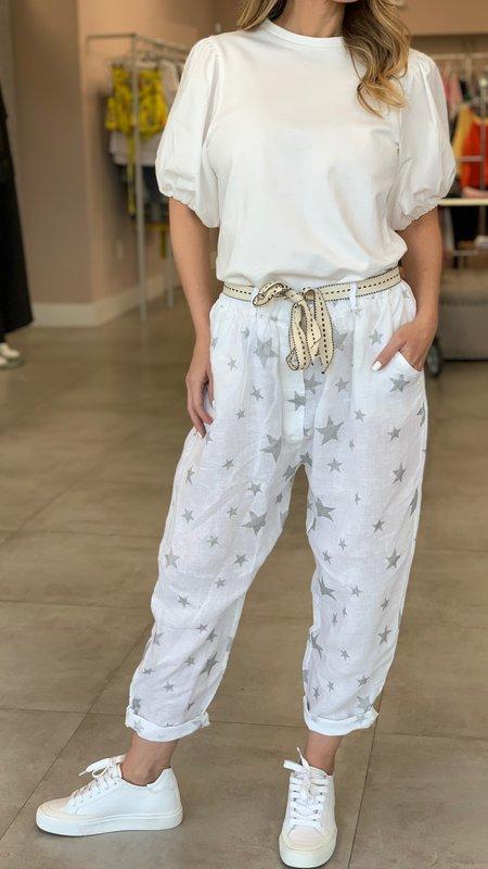 Eileen Star Detail Linen Pant