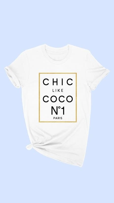 """Chic Like CoCo"" Graphic Tee"