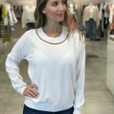 Elie Chain Neck Detail Sweater