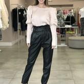 Kattia High Rise Belted Faux Leather Pants