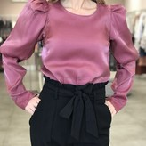 Kelsey Iridescent Puffy Sleeves Top