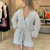 Georgina Sequin Sleeve Romper