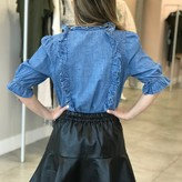 Emilia Bell Sleeve Denim Blouse