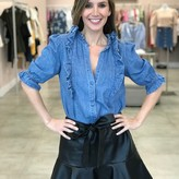 Emilia Bell Sleeve Denim Blouse