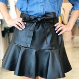 Dylan Faux Leather Flowy Mini Skirt