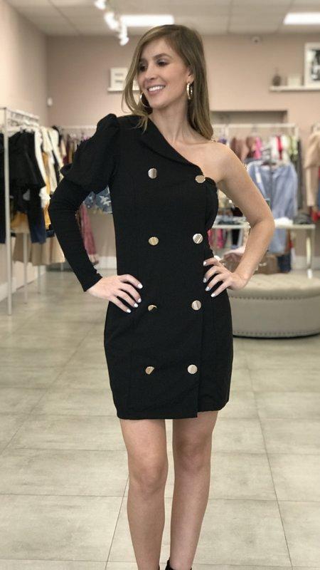 Marleen One Shoulder Blazer Dress