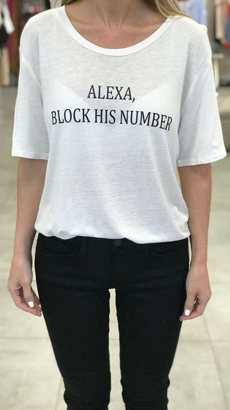 """Alexa Block His Number"" Graphic Tee"