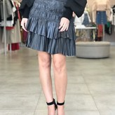Serena Tiered Pleated Mini Skirt