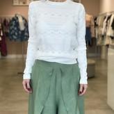 Regina Long Sleeve Pointelle Striped Sweater