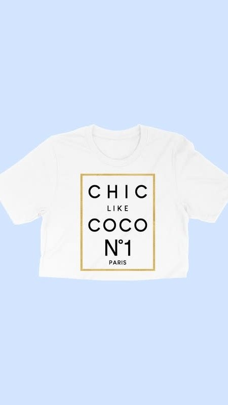 Coco Chic Cropped Tee