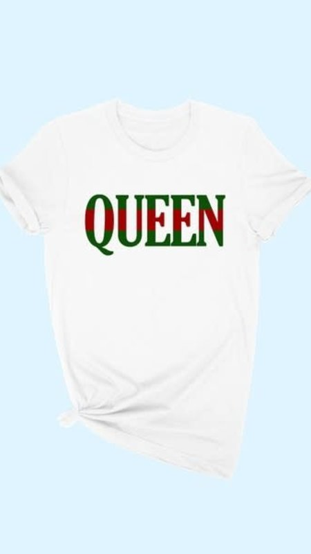 Queen Red & Green  Graphic Tee