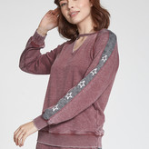 Nia Side Stripe With Stars Long Sleeve Sweater