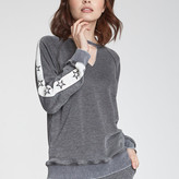 Lara Side Stripe With Star Long Sleeve Sweater