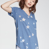 Opal Stars Front Pocket V Neck Tee